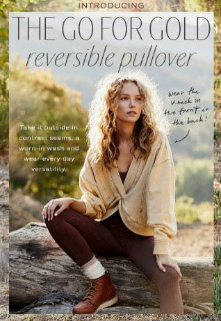 Introducing: The Go For Gold Reversible Pullover from Free People