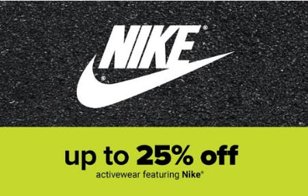 Up to 25% Off Nike Activewear