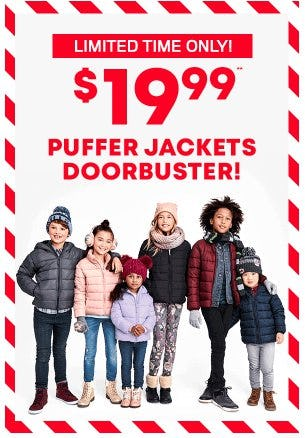 $19.99 Puffer Jackets Doorbuster from The Children's Place