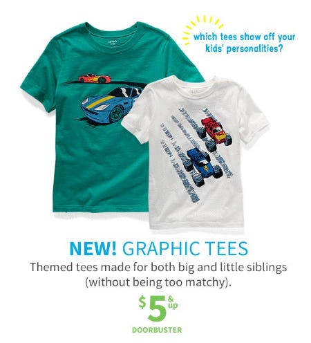 Graphic Tees $5 & Up Doorbuster from Carter's Oshkosh
