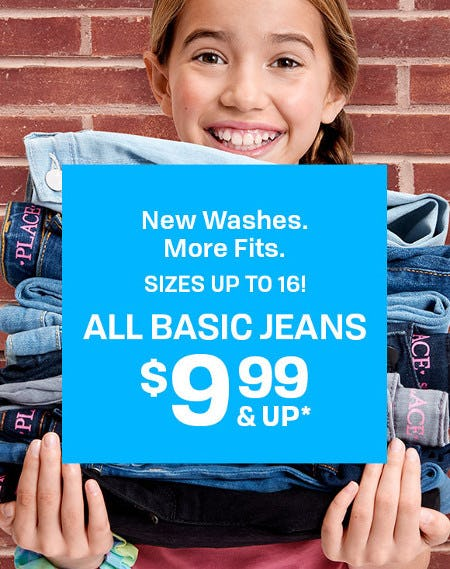 All Basic Jeans $9.99 and Up