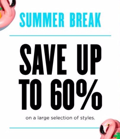 Summer Break up to 60% Off