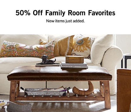 50% Off Family Room Favorites