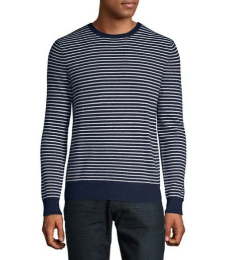 Black Brown 1826 Stripe Cashmere Sweater