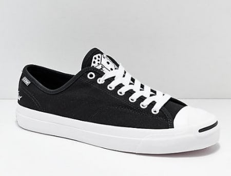 Converse x Illegal Civilization Jack Purcell Pro Black & White Shoes from Zumiez