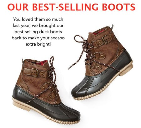 Meet our Best-selling Duck Boots from maurices