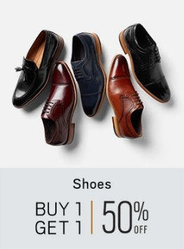 Shoes Buy 1, Get 1 50% Off from Men's Wearhouse