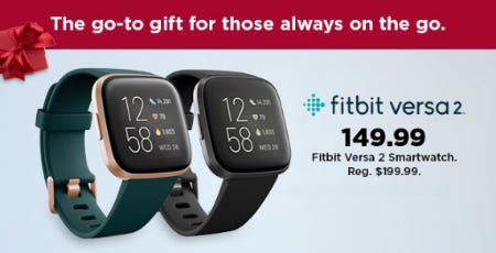 $149.99 Fitbit Versa 2 Smartwatch from Kohl's