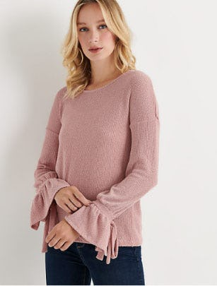 Tie Sleeve Thermal Top from Lucky Brand Jeans