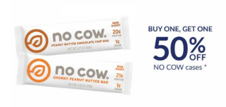 BOGO 50% Off NO COW Cases from The Vitamin Shoppe