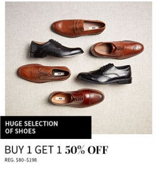 Buy 1, Get 1 50% Off Shoes from Jos. A. Bank