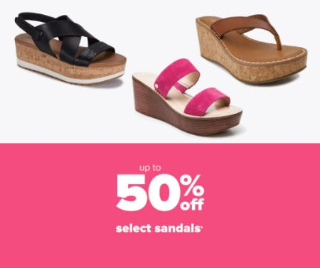 Up to 50% Off Select Sandals from Belk