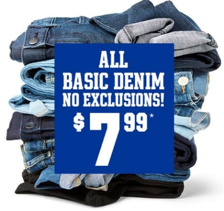 All Basic Denim $7.99 from The Children's Place
