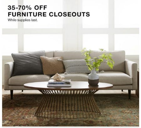35-70% Off Furniture Closeouts