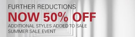 Further Reductions now 50% Off from Boss