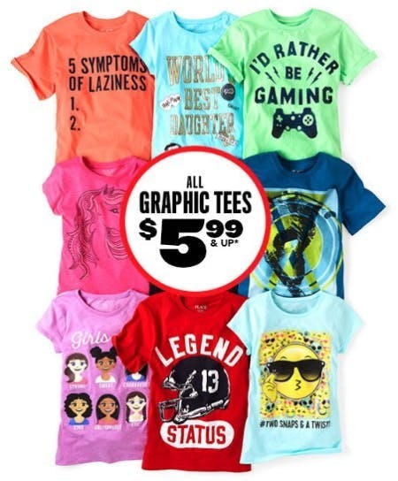 All Graphic Tees $5.99 & Up