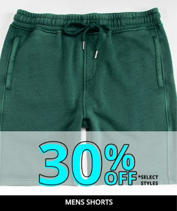 30% Off Mens Shorts from Tillys