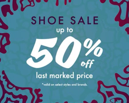 Shoe Sale up to 50% Off Last Marked Price
