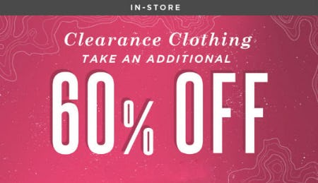 Additional 60% Off Clearance Clothing