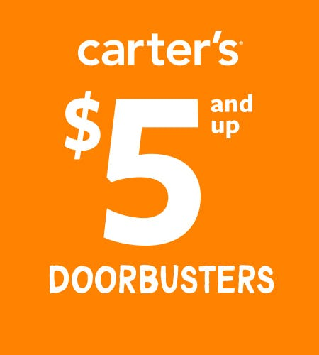 $5 and up Doorbusters from Carter's