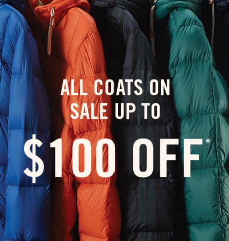 Up to $100 Off All Coats from Abercrombie & Fitch