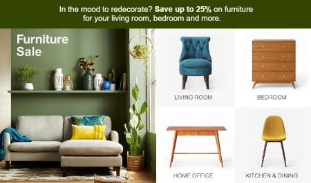 Up to 25% Off Furniture Sale
