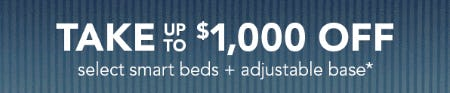 Take Up to $1,000 Off on Select Smart Beds + Adjustable Base from Sleep Number