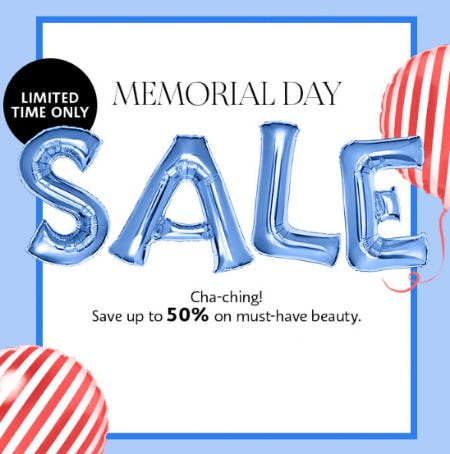 Up to 50% Memorial Day Sale from SEPHORA