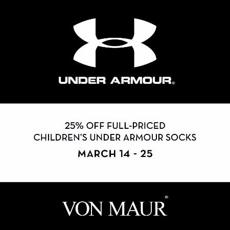 Children's Under Armour Sale from Von Maur