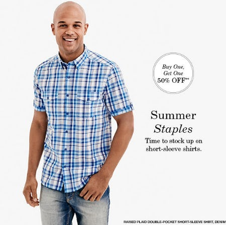 BOGO 50% Off Short Sleeve Shirts