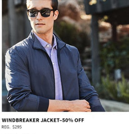 50% Off Windbreaker Jacket from Jos. A. Bank