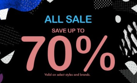 All Sale: Save up to 70%