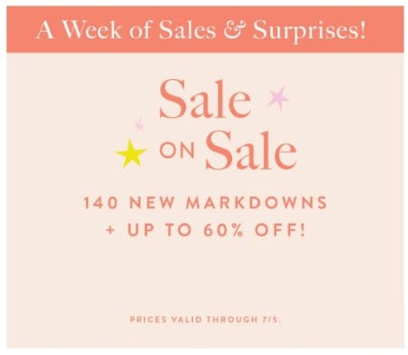 Sale on Sale up to 60% Off