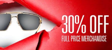 5f89c1de787 Sale at Solstice Sunglass Boutique. 30% Off Full Price Merchandise