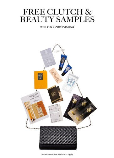 Free Clutch & Beauty Samples with Purchase from Neiman Marcus