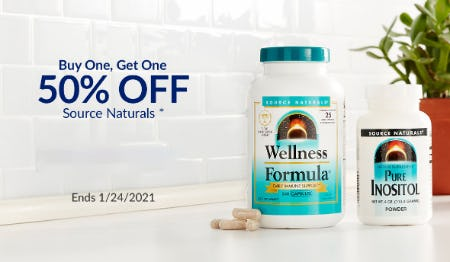 BOGO 50% Off Source Naturals from The Vitamin Shoppe