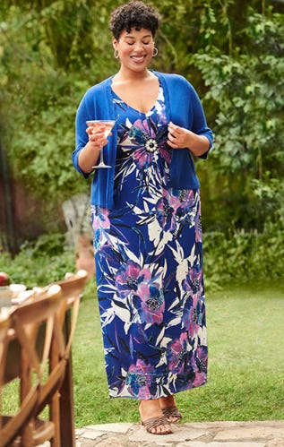 The Twist-Knot Maxi from Catherines Plus Sizes