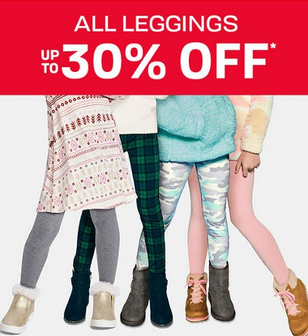 All Leggings Up to 30% Off