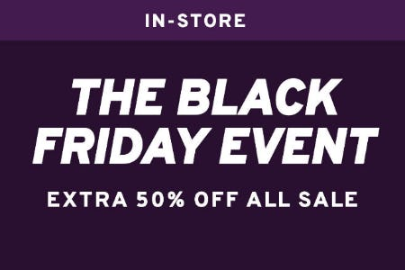 Extra 50% Off The Black Friday Event