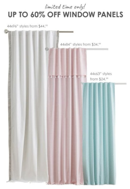 Up to 60% Off Window Panels from Pottery Barn Kids