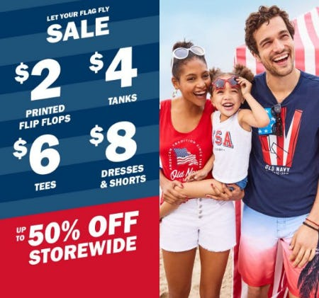 Up to 50% Off Storewide from Old Navy