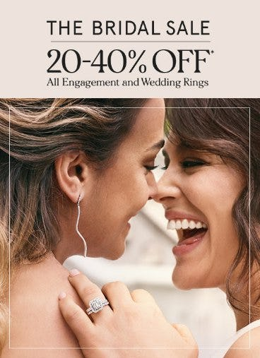 20-40% Off All Engagement and Wedding Rings from Zales Jewelers