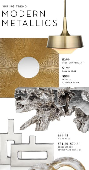 Modern Metallics from Z Gallerie