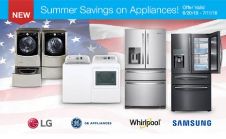Our Appliances Summer Savings Event is Here! from Costco