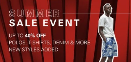 Summer Sale Event: Up to 40% Off from Boss