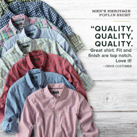 Our Heritage Washed Poplin Long-Sleeved Shirt from Orvis