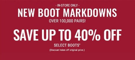Up to 40% Off Select Boots from Boot Barn Western And Work Wear