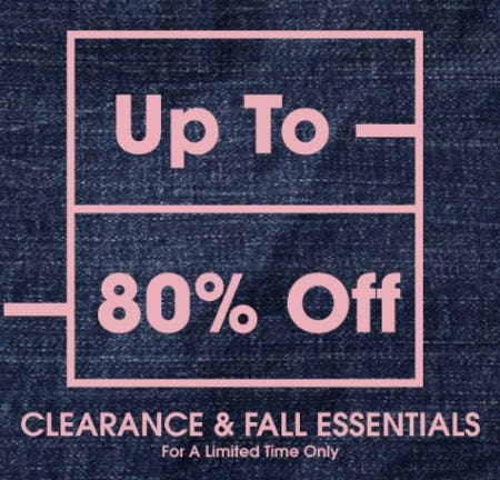 Up to 80% Off Clearance & Fall Essentials from Aéropostale