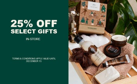 25% Off Select Gifts from The Body Shop