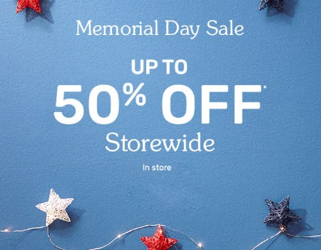 Up to 50% Off Memorial Day Sale from Pier 1 Imports